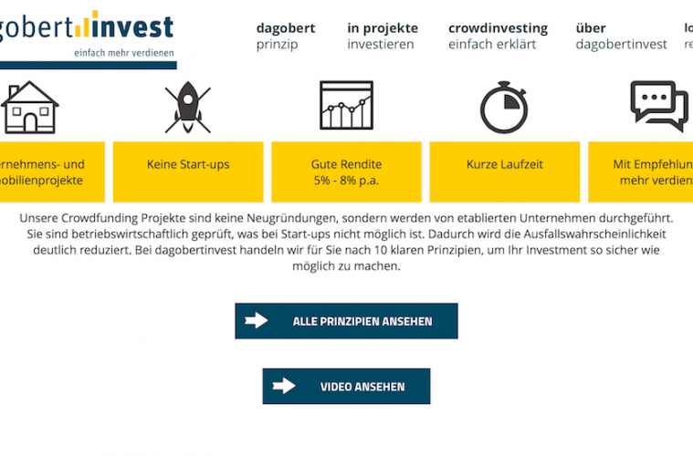 crowdinvesting dagobertinvest website