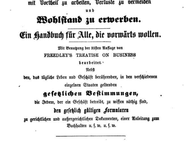 Spartipps aus dem 19. Jahrhundert