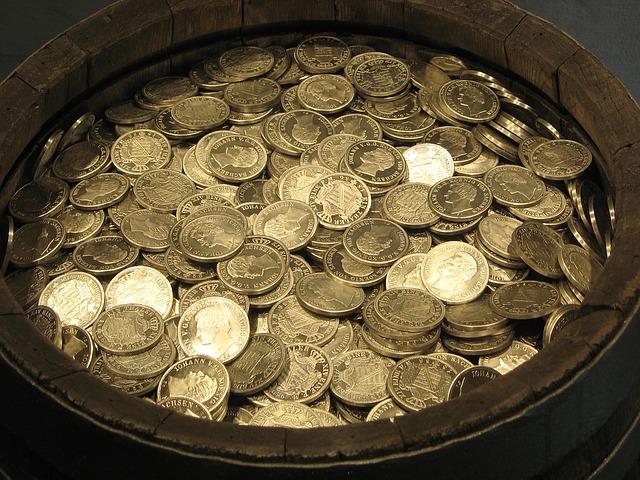 Geld in einem Topf