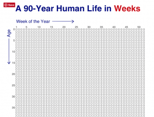 your life in weeks - http://waitbutwhy.com/2014/05/life-weeks.html#