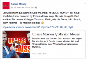 Focus Money FB Post