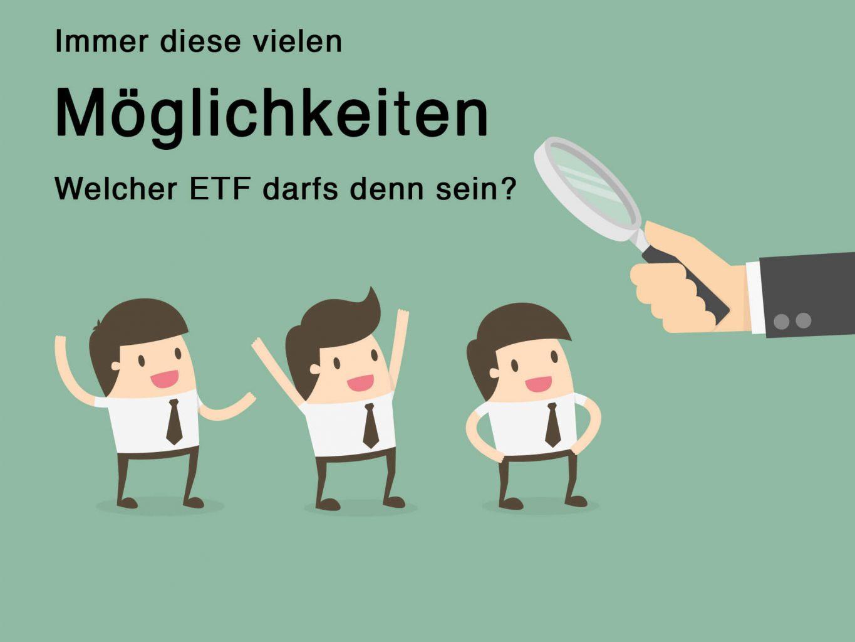 Suche nach dem richtigen ETF