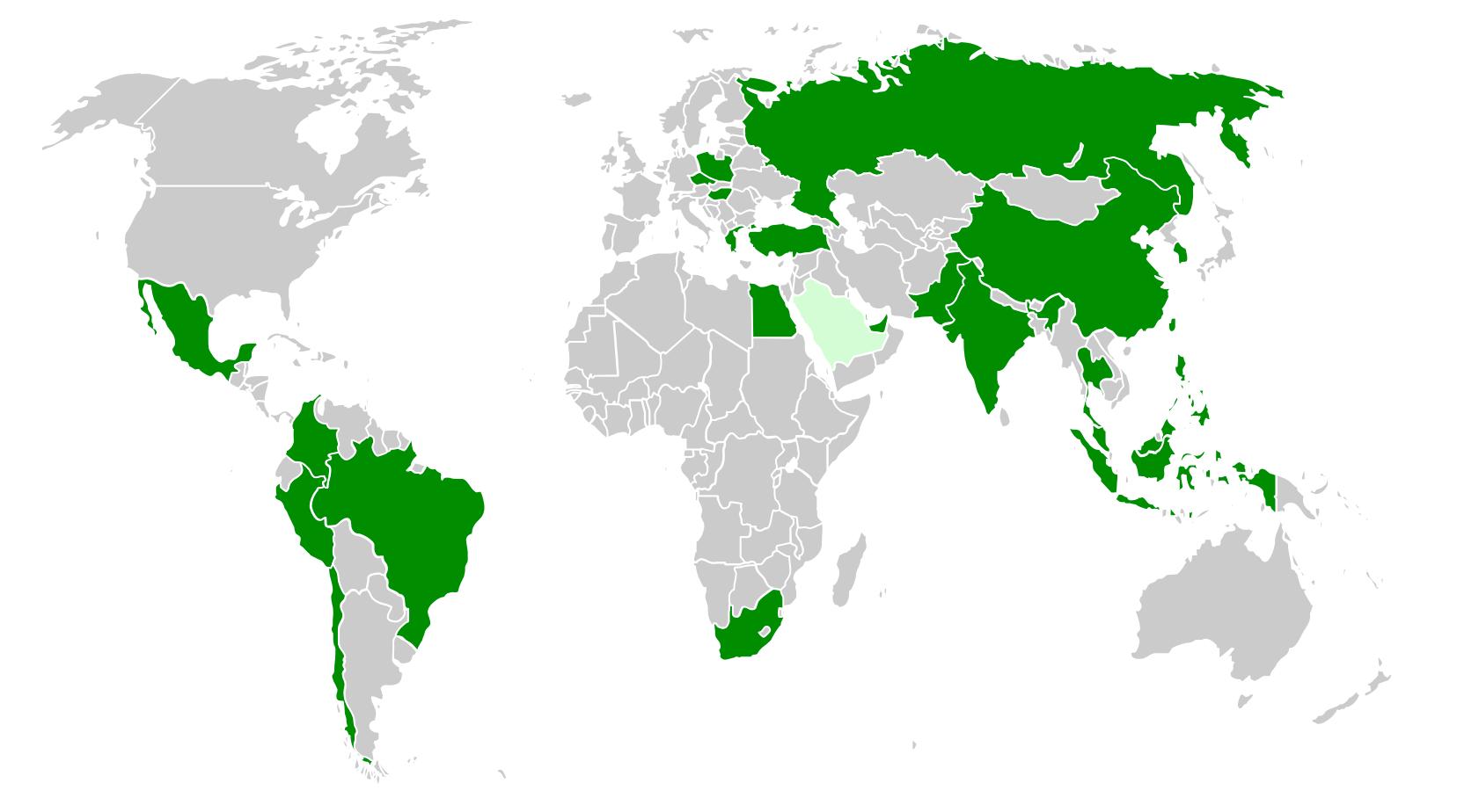 emerging markets karte