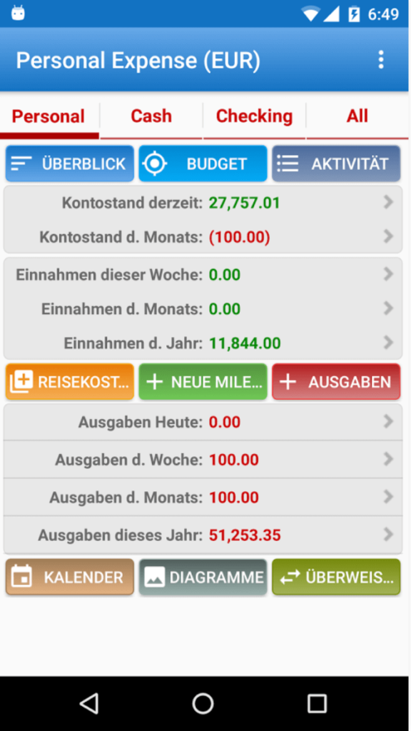 expense manager haushaltsbuch app