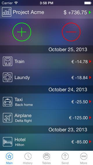 live expenses budget app
