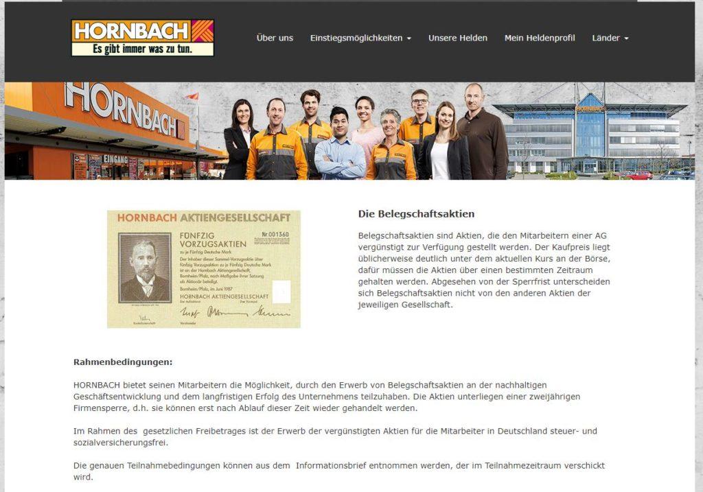 Hornbach Belegschaftsaktie