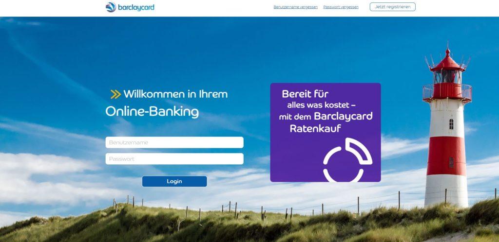 barclaycard banking login